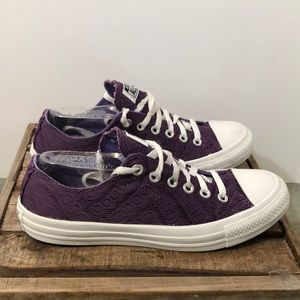 Converse all star purple lace over canvas  sneaker